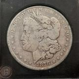 1878 7 tf Morgan Silver Dollar slabbed hard collectors case 90% silver