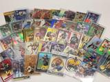 Lot of Football Numbered Insert Cards 46 Units