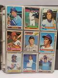 Binder Full of Baseball Cards 70s 80s