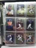 Binder of 2000 Bowman Chrome Baseball Cards