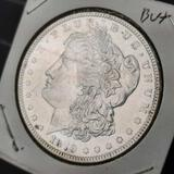 1879-P Morgan Silver Dollar 90% silver frosty white