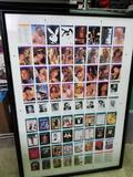 Playboy Uncut Sheet Trading Cards Framed