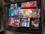 Bin Full of Football Cards Sets Binders