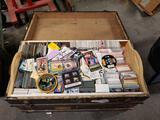 Vintage Trunk Full of Sports Cards Sports Collectibles