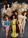 Lot of Barbies from Mattel China and Malaysia