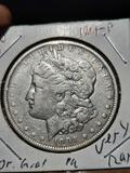 1901-P Morgan Silver Dollar au ultra rare date original beauty very scarce date