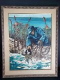 Beautiful Painting Lobster fishing by Beauais