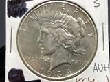 1934-S Peace Silver Dollar Key Date