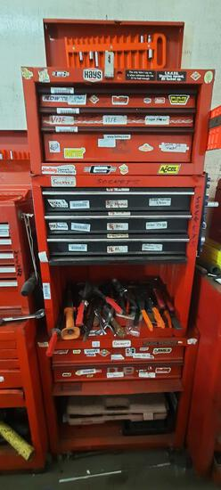 3 Piece Toolbox, 6ft Tall, Some Tools, Most Contents Not Included, TR5414