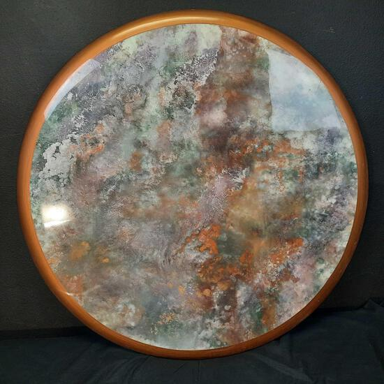 Mirandon Round Resin Artwork 46in Diameter