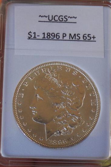 1896-P Morgan Silver Dollar Gem bu blazing frosty white pq