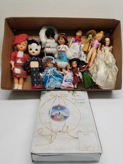 Box Full of Vintage Dolls Ornament Holder