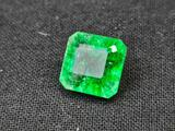 Emerald Colombia Green Beauty Natural Emerald 6.25cts Radiant Cut Gem Stone GGL Card