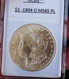 1904-O Morgan Silver Dollar gem bu pl stunning satin white pq