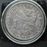 1880 Morgan Silver Dollar Toned Black