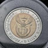 2014 5 South African Rand Bi-Metal Coin