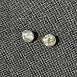 Natural Mined Pink & White Diamonds, .18ct .355ct VS+ Sparkly Beauties, 2 Units