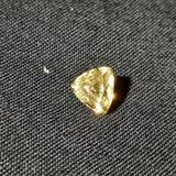 1.80ct Fire Yellow Trillion Cut Beryl Emerald Natural Mined Rare vvs