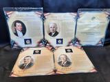 Presidential Dollar Card Sets, 4 Units, James Monroe, Truman, Lynden B. Johnson, Ford