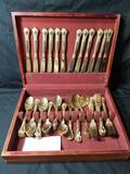 Vintage Godinger Fine Gold Plated Flatware In Box