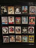 Card Display With Baseball Cards HOFs