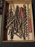 Box Lot Hand Tools Drill Bits Augers
