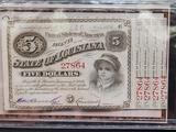1870s Baby Bond Bills Crisp High Grade Certificate in Collector Set