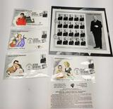 Alfred Hitchcock Stamp Block Signed First Day Issue