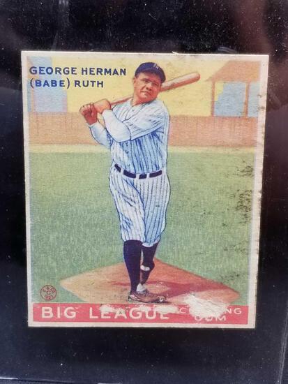 1933 Goudey #144 Babe Ruth Rare Card