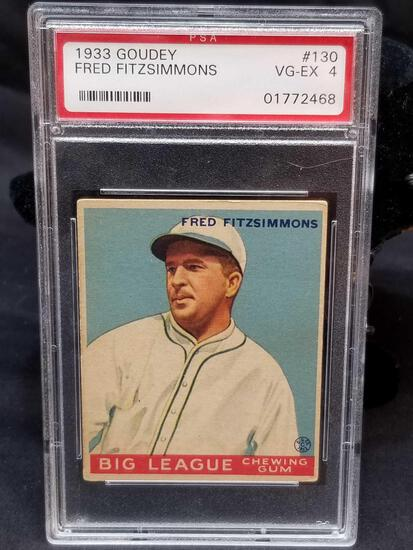 1933 Goudey Red PSA #130 Fred Fitzsimmons VG-EX4