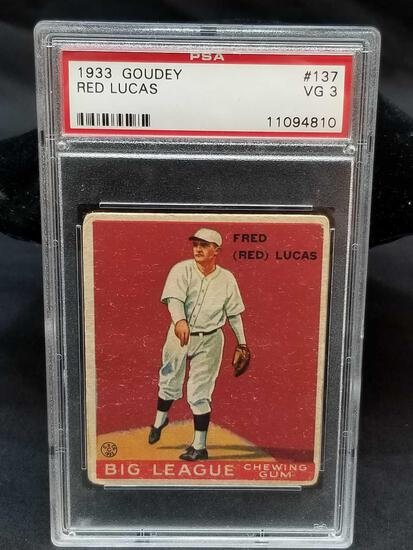 1933 Goudey Red PSA #137 Red Lucas VG3