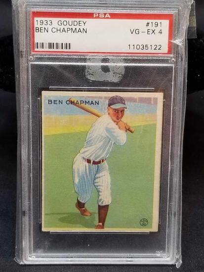 1933 Goudey Red PSA #191 Ben Chapman VG EX4