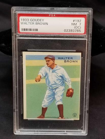 1933 Goudey Red PSA #192 Walter Brown NM 7 OC