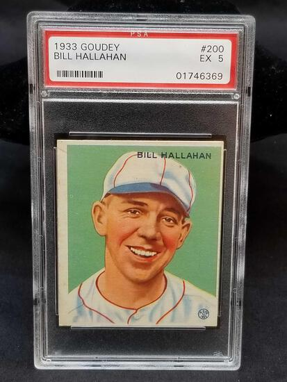 1933 Goudey Red PSA #200 Bill Hallahan EX5