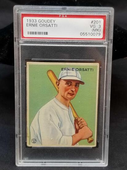 1933 Goudey Red PSA #201 Ernie Orsatti VG3 MK