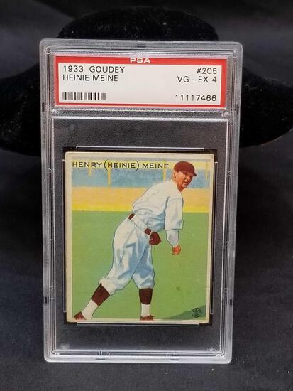1933 Goudey Red PSA #205 Heinie Meine VG-EX4