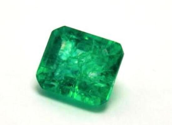 Emerald 11.45 ct Monster Emerald Cut Beauty Natural Earth Mined Gem Stone w/ Gem ID Card