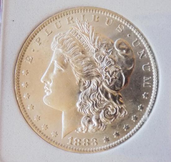 Morgan silver dollar 1883 o/o gem bud do blazing beauty 90% silver pq