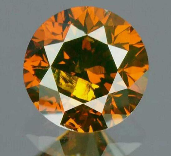 .21ct Perfect Brown Diamond Cut Gem Stone Sparkling Beauty w/ IGR Report