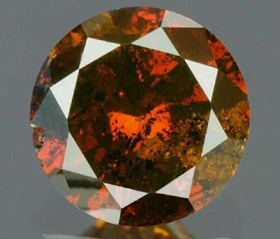 .24ct Sharp Blood Red Diamond IGR Certified Round Brilliant Gem Stone