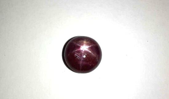 3.50ct Blood Red Star Ruby Gorgeous Shimmer Electric Star Shape