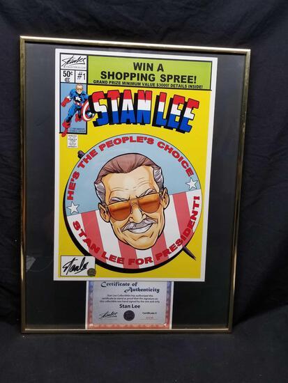 Stan Lee Signed Poster Stan For President COA