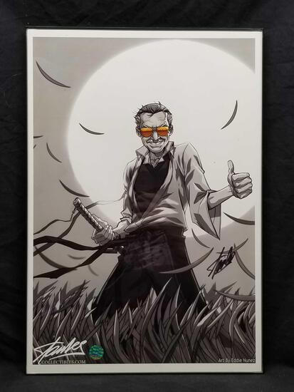 Eddie Nunez Art Signed By Stan Lee COA