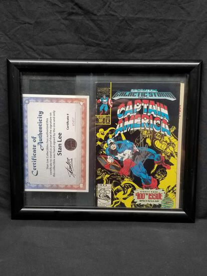 Stan Lee Signed Captain America Comic Book #400 COA