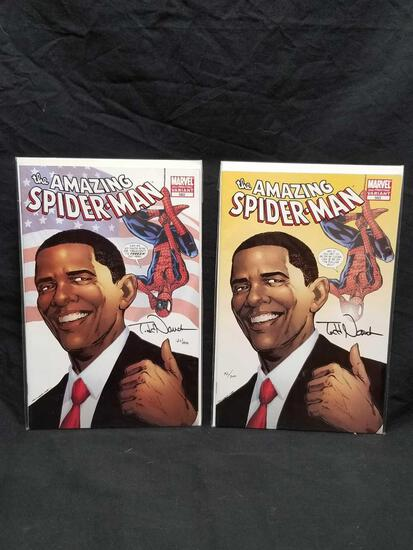 Todd Nauck Signed Spiderman Comics 2 Units