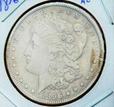 Morgan Silver Dollar 1896-O rare date better grade au+ stunner original