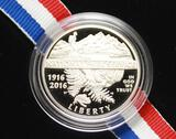 2016 100th Anniversary National Park Proof Half Dollar Coin in Original Mint Box