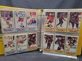 Binder of hockey cards