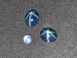 8.65ct Combined Royal Navy Blue Star Sapphires 3 Gem Stones
