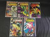 5 marvel Doctor strange comics ungraded in plastic